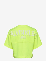 Calvin Klein Jeans - PUFF PRINT BACK LOGO T-SHIRT - crop tops - safety yellow - 1