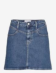 Calvin Klein Jeans - HIGH RISE MINI SKIRT - denimskjørt - ab121 light blue yoke - 0