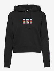 Calvin Klein Jeans - SMALL FLAG BOX - hettegensere - ck black - 0