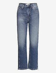 Calvin Klein Jeans - CKJ 030 HIGH RISE STRAIGHT ANKLE - straight jeans - bb047 - icn light blue utility - 0