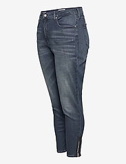 Calvin Klein Jeans - HIGH RISE SKINNY ANKLE - skinny jeans - bb234 - blue black logo zip he - 2