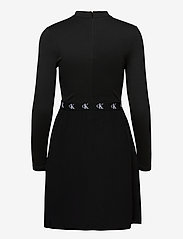 Calvin Klein Jeans - LOGO ELASTIC DRESS - hverdagskjoler - ck black - 1