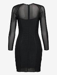 Calvin Klein Jeans - BODY-CON MESH DOUBLE LAYER DRESS - korte kjoler - ck black - 1