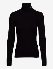 Calvin Klein Jeans - LS RIB ROLL NECK - turtlenecks - ck black - 0