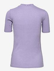Calvin Klein Jeans - LOGO TRIM RIB TEE - strikkede topper - palma lilac - 1