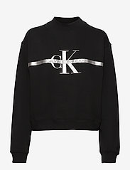Calvin Klein Jeans - GOLD MONOGRAM SWEATSHIRT - sweatshirts - ck black - 0