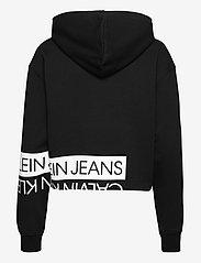 Calvin Klein Jeans - MIRRORED LOGO HOODIE - gensere og hettegensere - ck black / bright white - 1