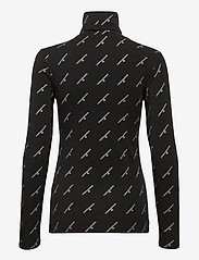 Calvin Klein Jeans - GOLD LOGO STRETCH ROLL NECK - langermede topper - ck black - 1
