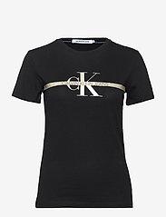 Calvin Klein Jeans - GOLD MONOGRAM TEE - t-shirts - ck black - 0