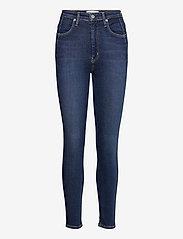 Calvin Klein Jeans - HIGH RISE SKINNY - skinny jeans - denim dark - 0