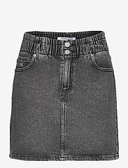 Calvin Klein Jeans - HIGH RISE MINI SKIRT - denimskjørt - denim grey - 0