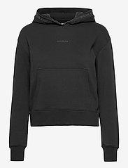 Calvin Klein Jeans - LOGO TRIM HOODIE - sweatshirts & hoodies - ck black - 0