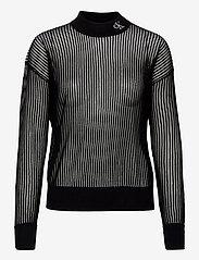 Calvin Klein Jeans - CK NECK SEE THROUGH SWEATER - gensere - ck black - 0