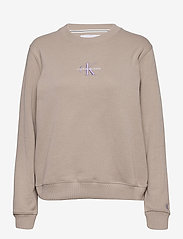 Calvin Klein Jeans - MONOGRAM LOGO CREW NECK - sweatshirts - string - 0