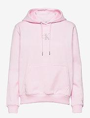 Calvin Klein Jeans - MONOGRAM LOGO HOODIE - hettegensere - pearly pink/quiet grey - 0