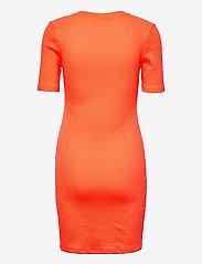 Calvin Klein Jeans - SLUB RIB 3/4 SLEEVES DRESS - sommerkjoler - shocking orange - 1