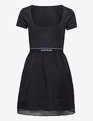 Calvin Klein Jeans - LOGO WAISTBAND DRESS - hverdagskjoler - ck black - 1