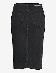 Calvin Klein Jeans - HIGH RISE MIDI SKIRT - denimskjørt - denim black - 1