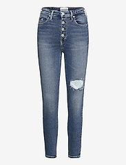 Calvin Klein Jeans - HIGH RISE SKINNY ANKLE - skinny jeans - denim medium - 0