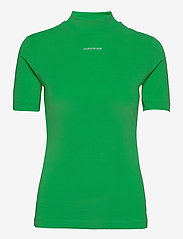 Calvin Klein Jeans - MICRO BRANDING STRETCH MOCK NECK - t-shirts - acid green - 0