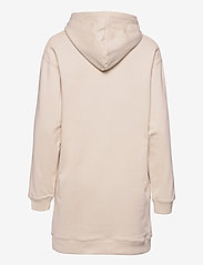 Calvin Klein Jeans - LOGO TRIM HOODIE DRESS - hverdagskjoler - white sand - 1