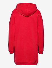 Calvin Klein Jeans - MONOGRAM HOODIE DRESS - hverdagskjoler - racing red - 1