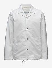 Calvin Klein Jeans - INSTITUTIONAL LOGO COACH JACKET - kevyet takit - bright white - 0
