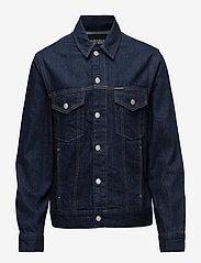 Calvin Klein Jeans - Classic Trucker Warh - farkkutakit - rinse white print - 0