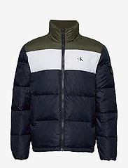 Calvin Klein Jeans - COLOR BLOCK DOWN PUFFER - kurtki puchowe - night sky / deep depths - 1