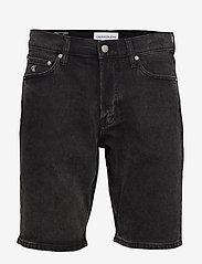 Calvin Klein Jeans - SLIM SHORT - farkkushortsit - da119 black with embro - 0