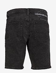 Calvin Klein Jeans - SLIM SHORT - denim shorts - da119 black with embro - 1