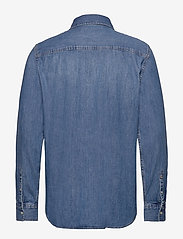 Calvin Klein Jeans - MODERN WESTERN SHIRT - podstawowe koszulki - da042 mid blue - 1