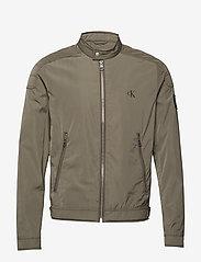 Calvin Klein Jeans - NYLON RACER WITH DETAILS - light jackets - new basil - 0
