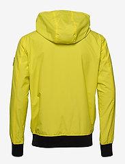 Calvin Klein Jeans - HOODED BLOCKING NYLON JACKET - light jackets - solar yellow/black - 2