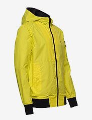 Calvin Klein Jeans - HOODED BLOCKING NYLON JACKET - light jackets - solar yellow/black - 4
