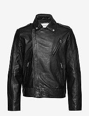 Calvin Klein Jeans - PERFECTO JACKET - nahkatakit - ck black - 0