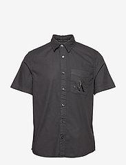 Calvin Klein Jeans - RIBSTOP POPLIN SS SH - basic overhemden - ck black - 0