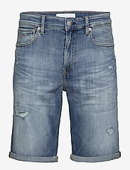 Calvin Klein Jeans - REGULAR SHORT - denim shorts - da151 bright blue dstr - 0