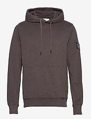 Calvin Klein Jeans - MONOGRAM BADGE HOODIE - hoodies - aluminium grey - 0