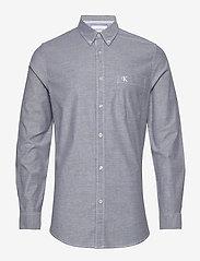 Calvin Klein Jeans - CHAMBRAY SLIM STRETCH - basic overhemden - night sky - 0
