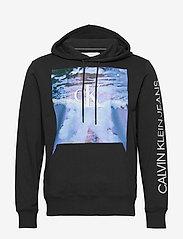 Calvin Klein Jeans - WAVE PHOTOPRINT HOODIE - hoodies - ck black - 0