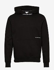 Calvin Klein Jeans - SUBTLE INSTITUTIONAL LOGO HOODIE - basic sweatshirts - ck black - 0