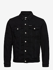 Calvin Klein Jeans - FOUNDATION SLIM DENIM JACKET - farkkutakit - ab099 washed black - 0
