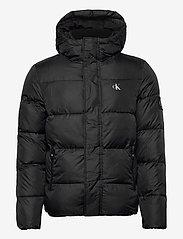 Calvin Klein Jeans - HOODED PUFFER JACKET - kurtki puchowe - ck black - 1