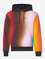 Calvin Klein Jeans - BLUR AOP RELAX - hupparit - rainbow blur aop - 0