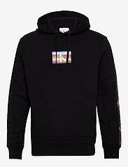 Calvin Klein Jeans - SMALL FLAG REG - hoodies - ck black - 0