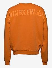 Calvin Klein Jeans - CK SLICED BACK GRAPHIC CN - sweats - rusty orange - 1