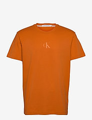 Calvin Klein Jeans - CK SLICED BACK GRAPHIC TEE - t-shirts basiques - rusty orange - 0