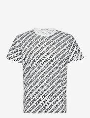 Calvin Klein Jeans - AOP DIAGONAL TEE - krótki rękaw - bright white - 0