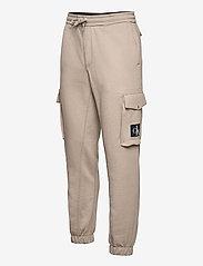 Calvin Klein Jeans - CARGO BADGE FLEECE PANT - pantalon cargo - elephant skin - 2